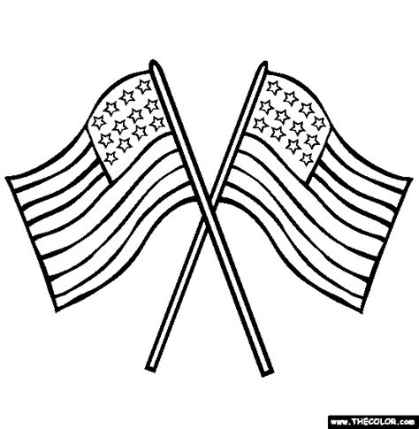 Us Flag Coloring Page Free Us Flag Online Coloring Flag To Color