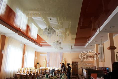 Натяжные потолки в ресторане фото