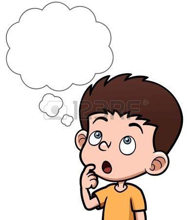 imagenes de verbos a blanco y negro ilustraci 243 n vectorial de dibujos animados ni 241 os pensando
