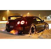 Video Watch A Nissan GT R Melt Snow With Exhaust Flames