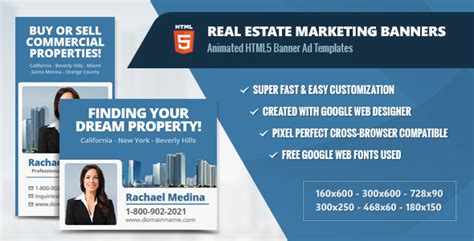 Real Estate Marketing Banners Html5 Animated Ads Theme For U Real Estate Banners Template
