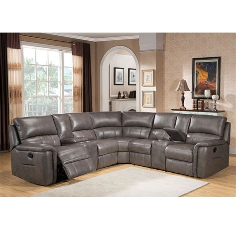 Grey Leather Reclining Sofa by Best 25 Reclining Sectional Ideas On
