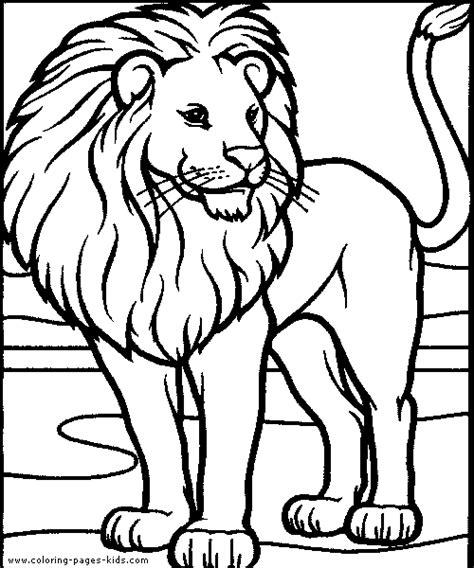 coloring pages tiger lion lion color page
