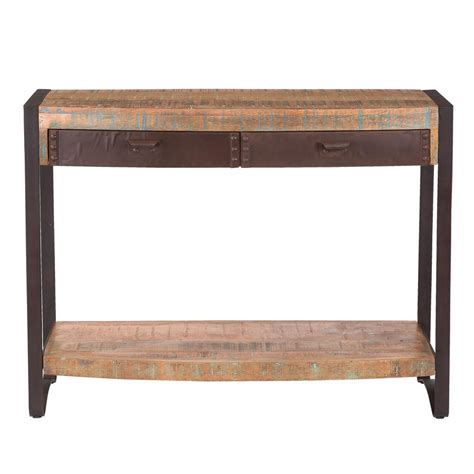 storage sofa table home decorators collection mitchell black rubbed storage