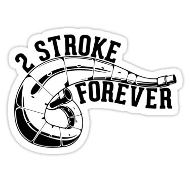 Biker Sticker Smoked By 2 Stroke quot 2 stroke forever dirt bike quot stickers by lolotees redbubble
