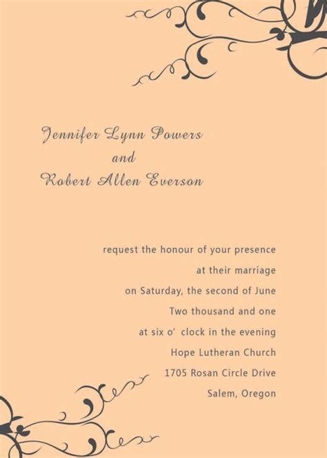 Wedding Invitation Jpg by Wedding Invitation Wording Both Parents Informal Www