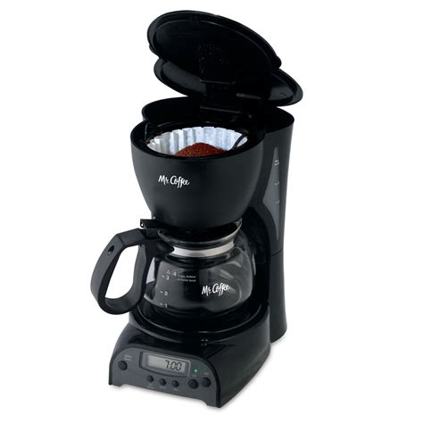 Coffee Maker Manual Espresso 4 Cup mr coffee 174 simple brew 4 cup programmable coffee maker black drx5 rb on mrcoffee