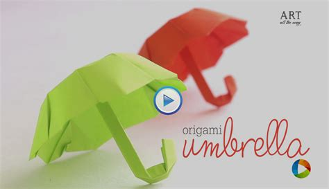 How To Make Origami Umbrella - how to make an origami paper folding umbrella
