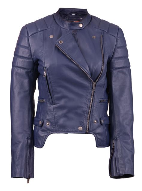 Navy Blue Leather by Factoryextreme Meteor Shower Womens Black Or Navy Blue