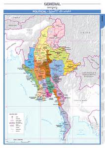 political map of myanmar overview agricultural atlas of the union of myanmar