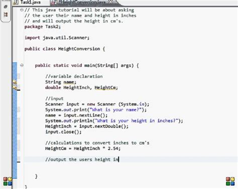 swing program in java with output java programming input output tasks height conversion