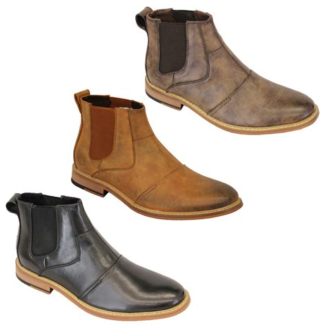 mens boots high mens cavani boots chelsea dealer shoes high ankle leather