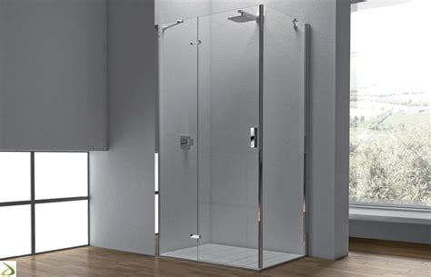 piatto doccia ad angolo box doccia angolare in cristallo 1000 17 arredo design