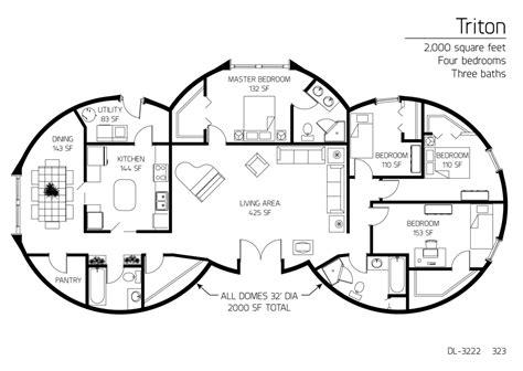 floor plan dl 3222 monolithic dome institute
