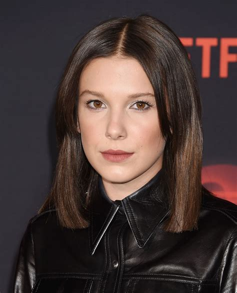 eleven actress age millie bobby brown hair