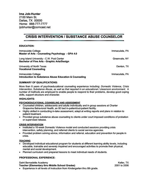 school counselor cover letter exles school counselor resume cover letter sle cover letters