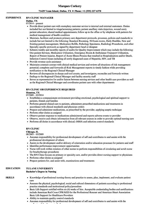 rpn sle resume great clinic rn resume sle gallery professional