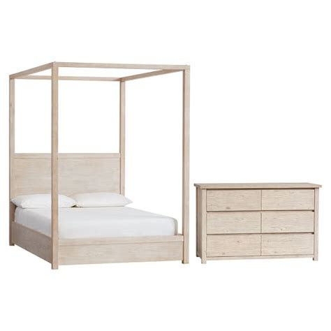 bed and dresser set costa canopy bed and dresser set pbteen