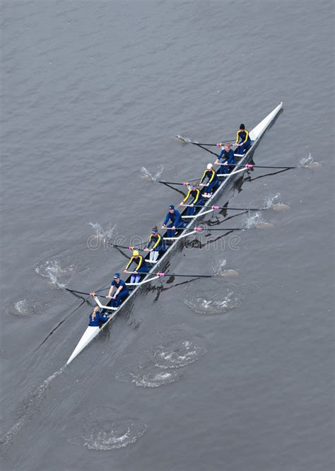 row the boat oar minnesota university of michigan rowing team from above editorial