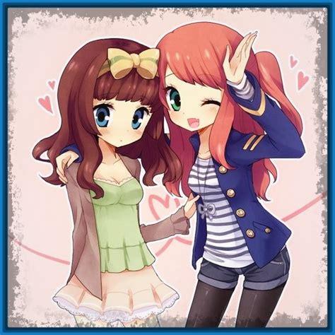 imagenes de anime kawaii de amigas imagenes de anime de mejores amigas archivos imagenes de