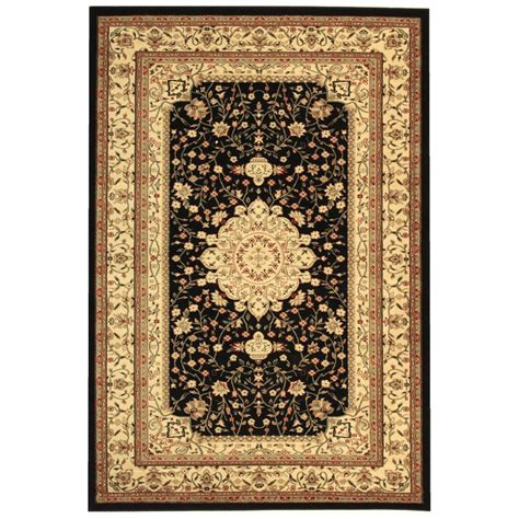 6 ft rugs safavieh lyndhurst black ivory 4 ft x 6 ft area rug lnh213a 4 the home depot