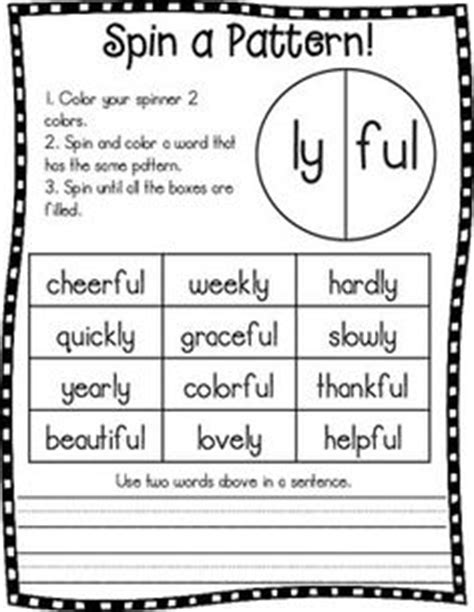 ly pattern words image gallery suffix ly