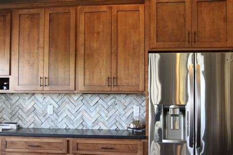 wood kitchen backsplash herringbone backsplash suburban bitches