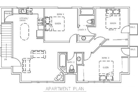 3 bedroom garage apartment floor plans garage with 3 bedroom apartment house plans pinterest