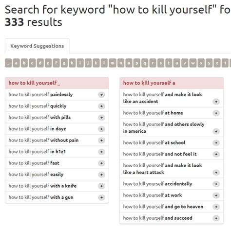 how to kill your search behaviour test quot how to kill yourself quot dr kurtzke