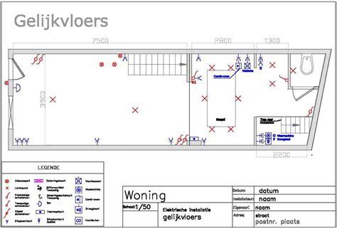 lade dwg planning en ontwerp planning elektrische installatie