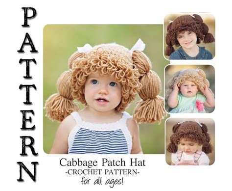 cabbage patch kid crochet patterns crochet patterns only pattern cabbage patch crochet hat for all ages