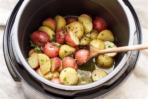 instant pot potatoes with garlic brown butter eatwell101