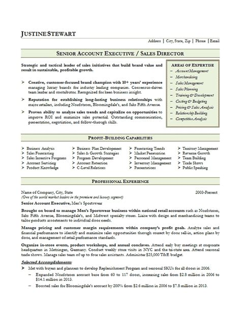 resume format for accountant executive sales account executive resume exle