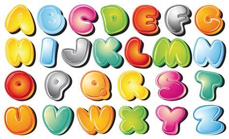 lettere dell alfabeto colorate da stare alfabeto colorato style alphabet vettoriali