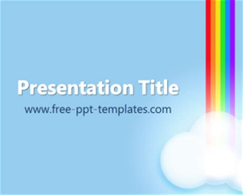 rainbow powerpoint template free rainbow ppt template free powerpoint templates