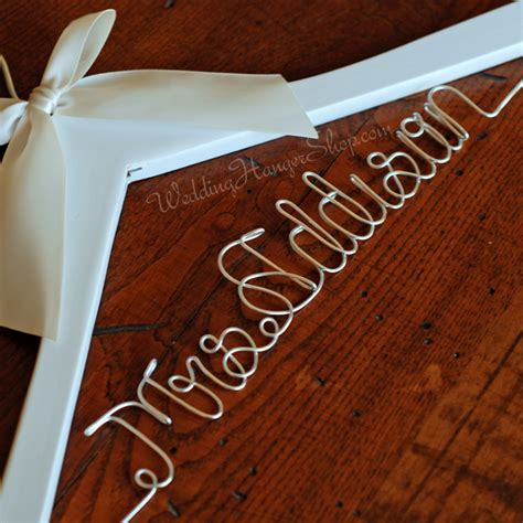 Wedding Hanger Font by Custom Bridal Hanger Wedding Hangers With Your New Last Name