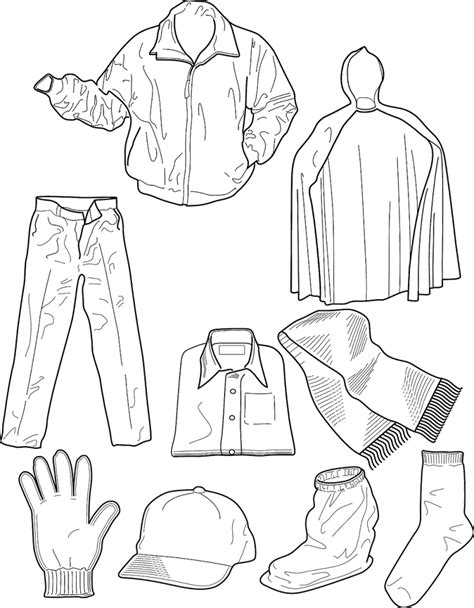 Winter Clothing Colouring Pages In The Playroom Coloring Pages Of Winter Clothes