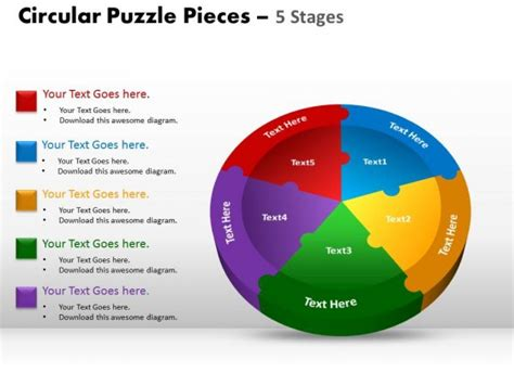 Powerpoint Template Marketing Circular Puzzle Ppt Slides Marketing Presentation Ppt Template