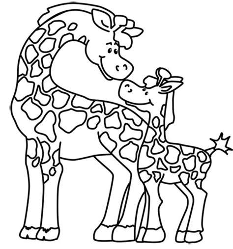 imagenes de jirafas faciles de dibujar jirafa para colorear