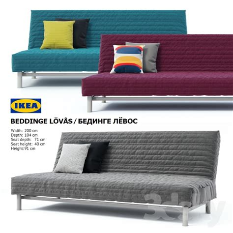 divano beddinge 3d models sofa ikea beddinge lovas sofa bed bedinge