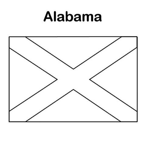 alabama state colors state flag of alabama coloring page state flag of alabama