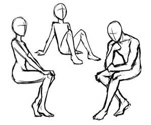Anime Sitting Outline by Poses A Drawing Guide For Sitting And Standing Mannequin Cr 233 Atif