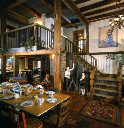 pole barn interior finishing timber frame farm house  guest house post beam vermont