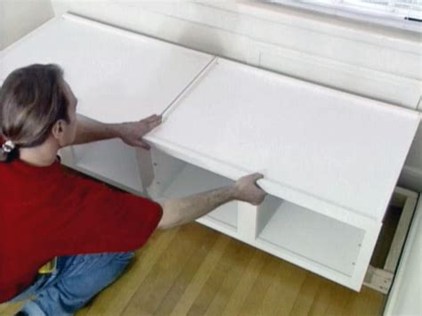 how to make window bench how to build window seat from wall cabinets how tos diy
