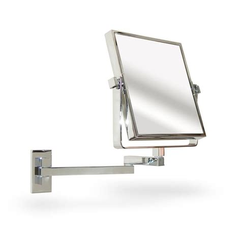 extendable magnifying bathroom mirror extendable square wall mounted vanity shaving mirror for