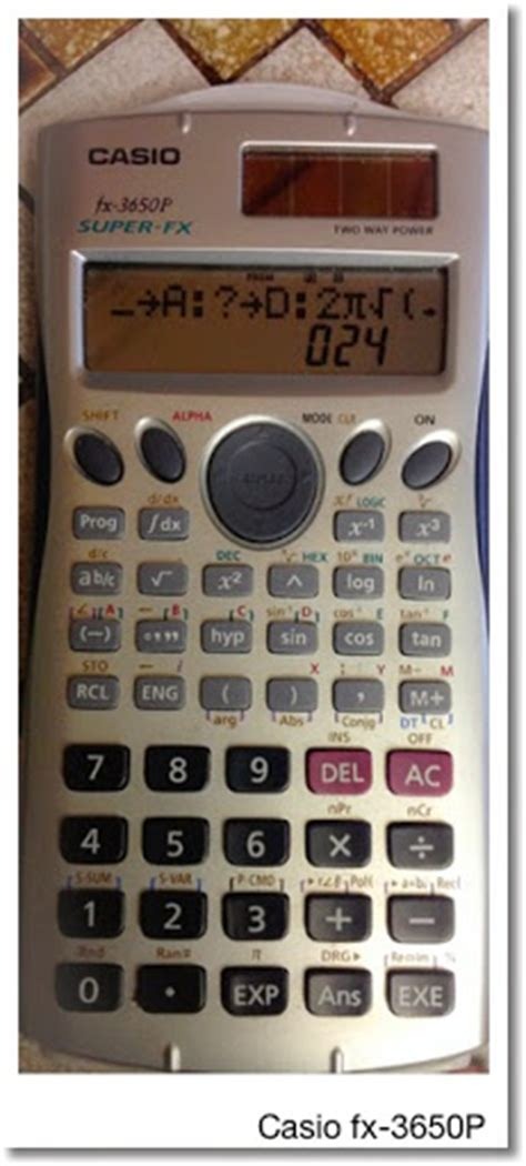 Casio Fx 3650p Kalkulator Ilmiah eddie s math and calculator casio fx 3650p programming