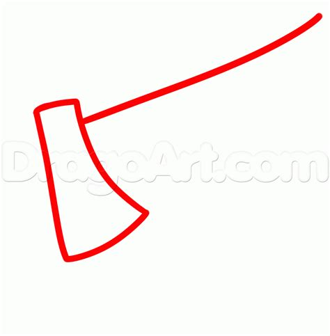 steps on how to a how to draw an axe step by step stuff pop culture free drawing tutorial