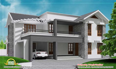 home design app roof contemporary sloping roof home design 3010 sq ft