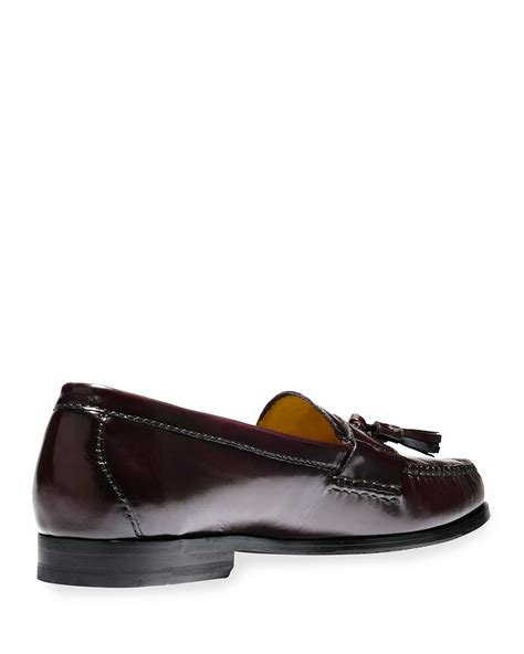 cole haan tassel loafers cole haan pinch grand leather tassel loafer in purple for