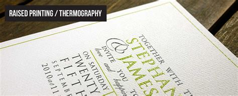 Wedding Invitations Thermography Printing by Raised Ink Printing Thermography Wedding Invitations And
